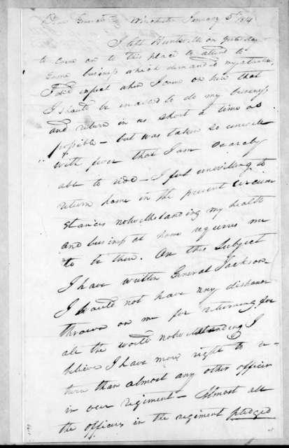 John Overton to John Coffee, January 5, 1814