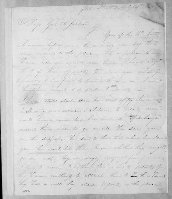 John Pryor Hickman to Andrew Jackson, July 24, 1814