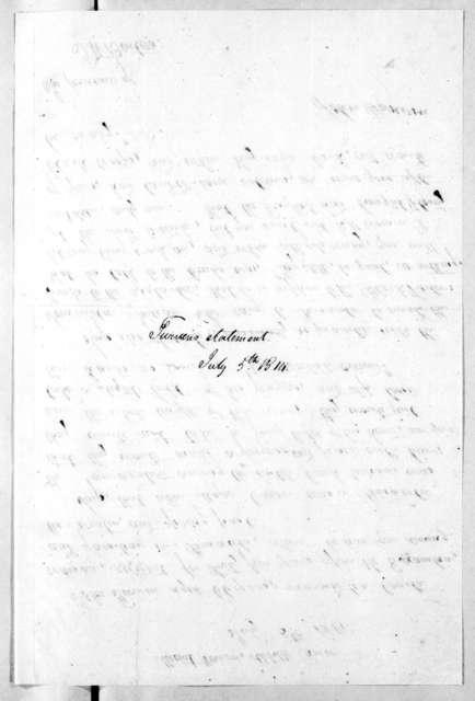 John Turvin to Thomas H. Benton, July 5, 1814