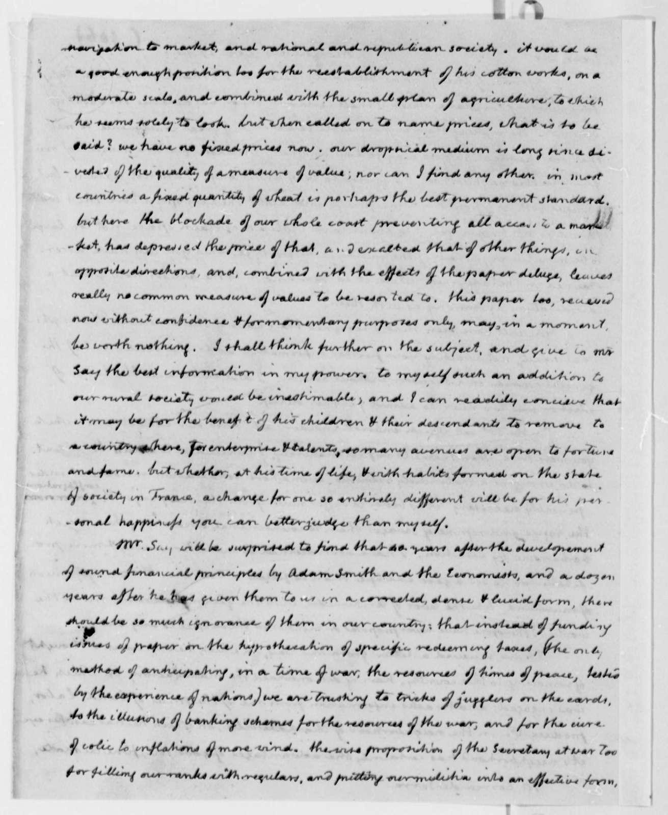 Jose Correa da Serra to Thomas Jefferson, December 27, 1814
