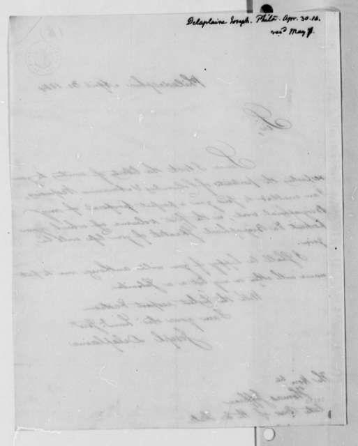 Joseph Delaplaine to Thomas Jefferson, April 30, 1814