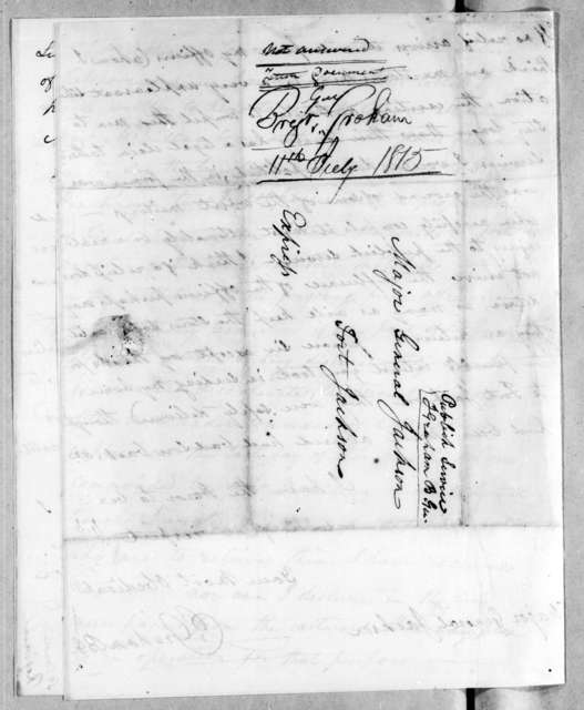 Joseph Graham to Andrew Jackson, July 11, 1814