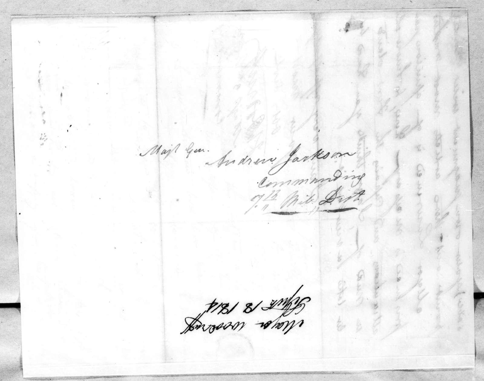 Joseph Woodruff to Andrew Jackson, September 18, 1814