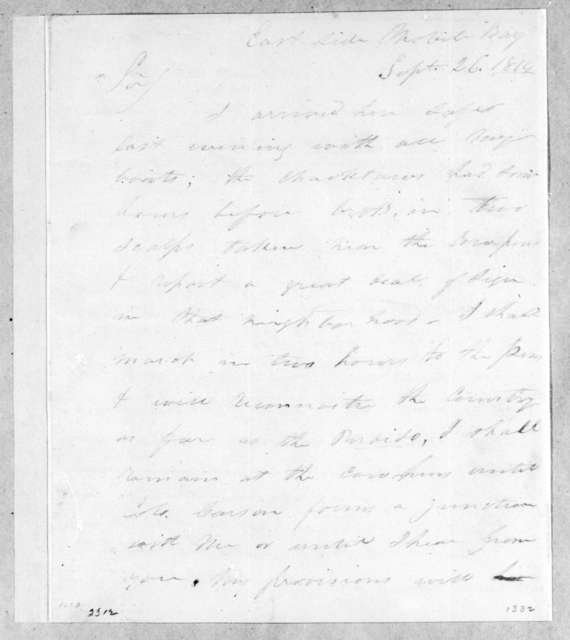 Joseph Woodruff to Andrew Jackson, September 26, 1814