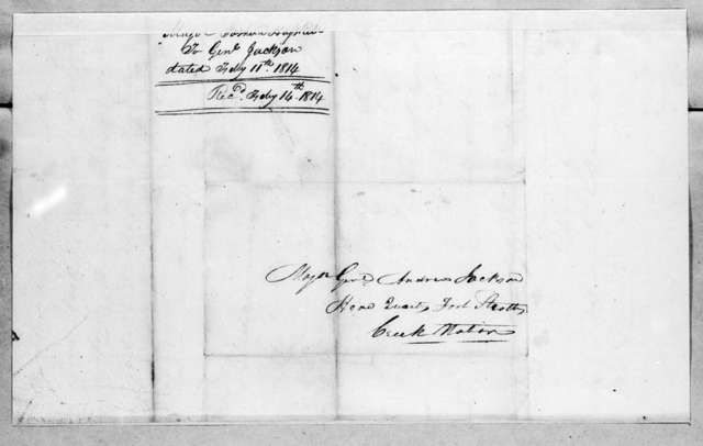 Joshua Haskell to Andrew Jackson, February 11, 1814
