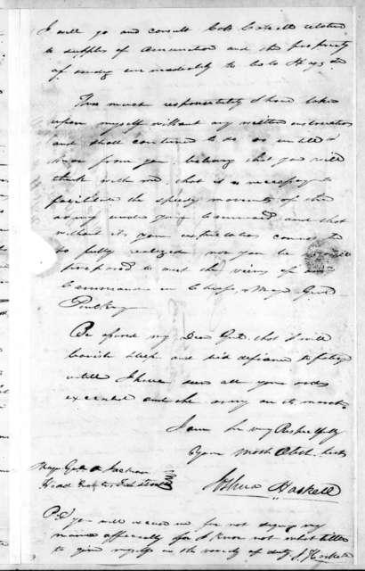 Joshua Haskell to Andrew Jackson, February 9, 1814