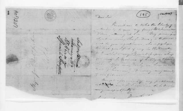 Judge Harry Toulmin to Andrew Jackson