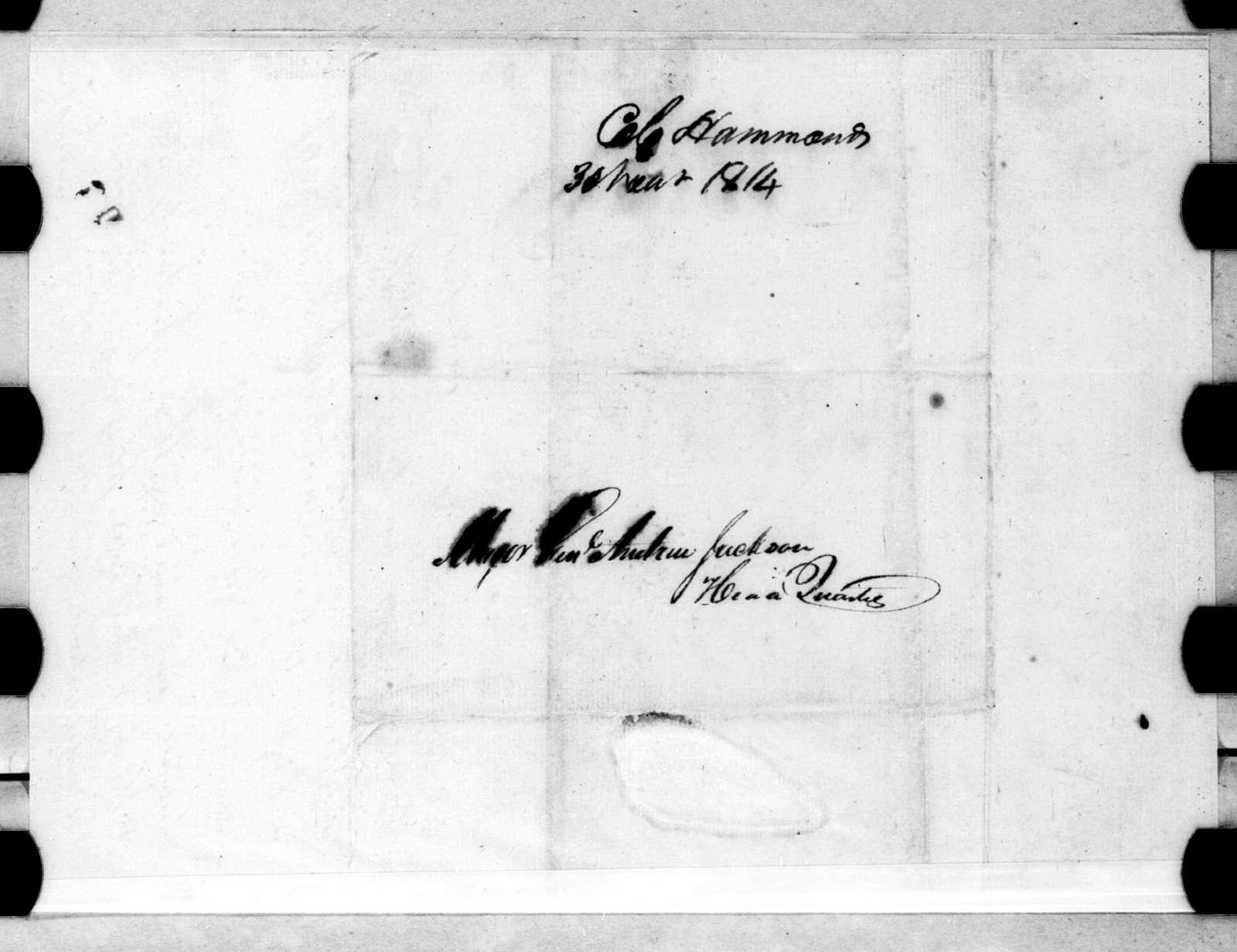 Leroy Hammons to Andrew Jackson, November 3, 1814