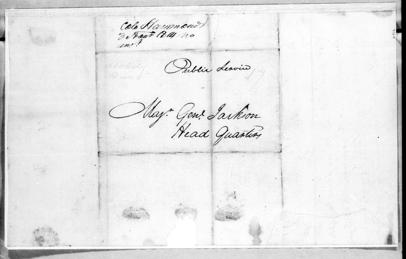 Leroy Hammons to Andrew Jackson, November 30, 1814