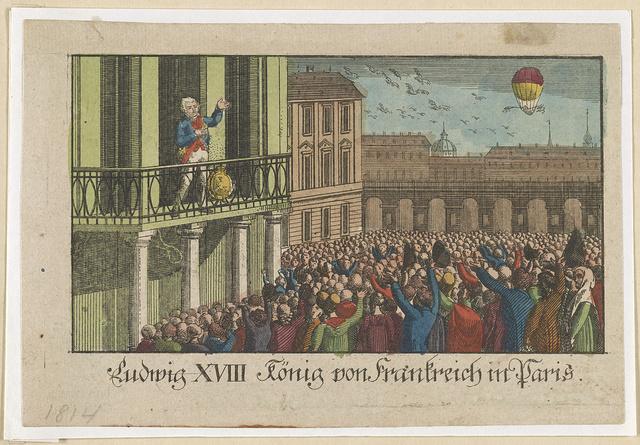 Ludwig XVIII König von Frankreich in Paris