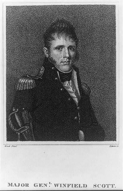 Major Genl. Winfield Scott / Wood pinxt. ; Edwin sc.