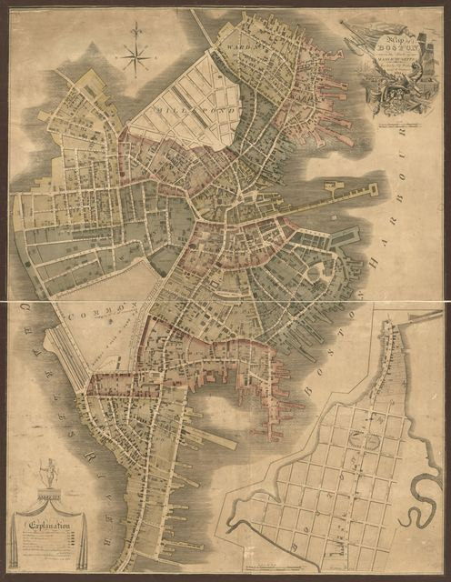 Map of Boston in the state of Massachusetts : 1814 /