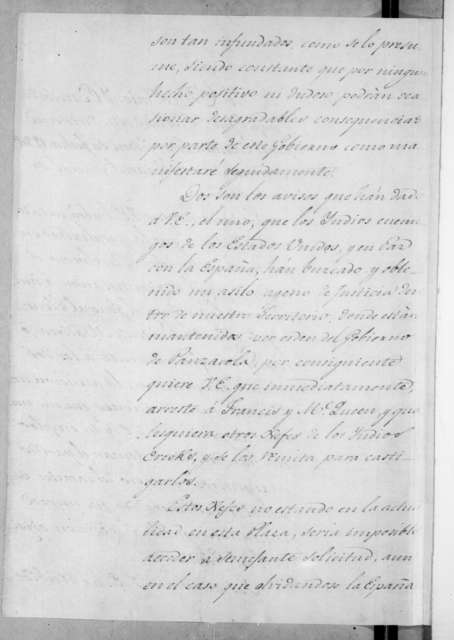 Mateo Gonzalez Manrique to Andrew Jackson, July 26, 1814