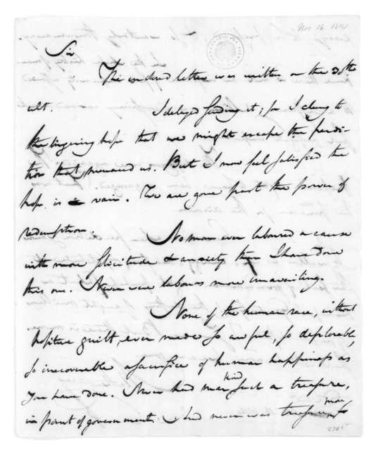 Mathew Carey to James Madison, November 16, 1814.