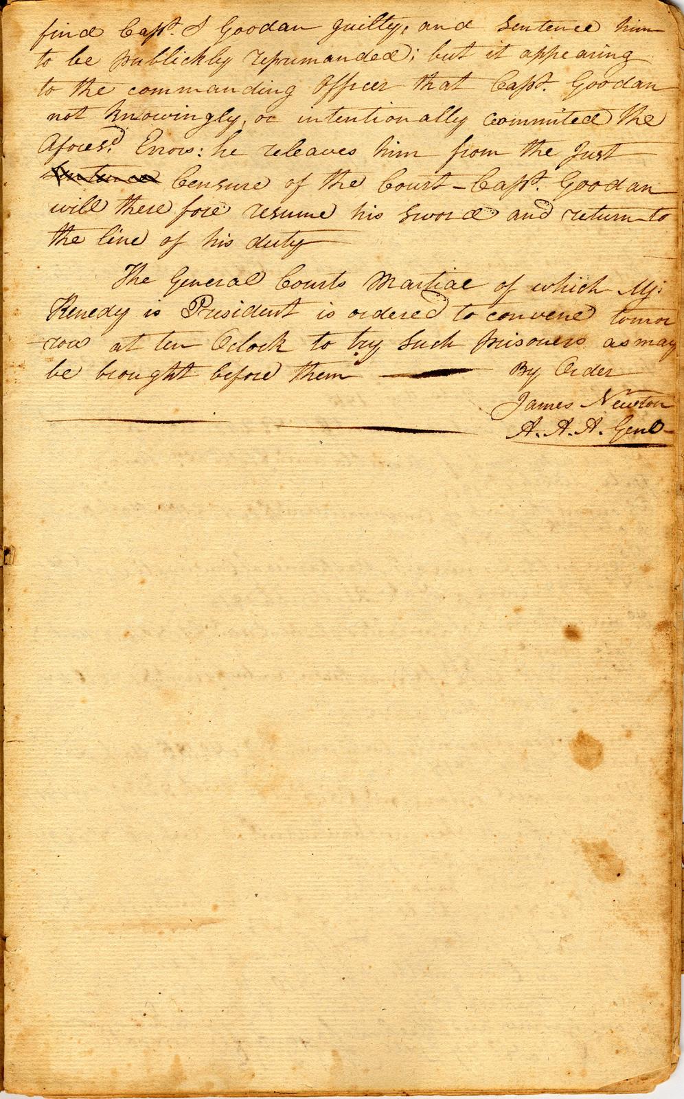 Military order book
