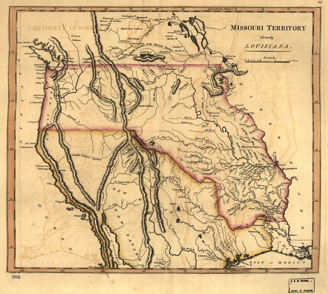 Missouri territory formerly Louisiana.