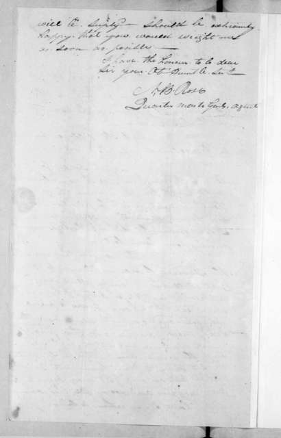 Neil B. Rose to Andrew Jackson, April 25, 1814