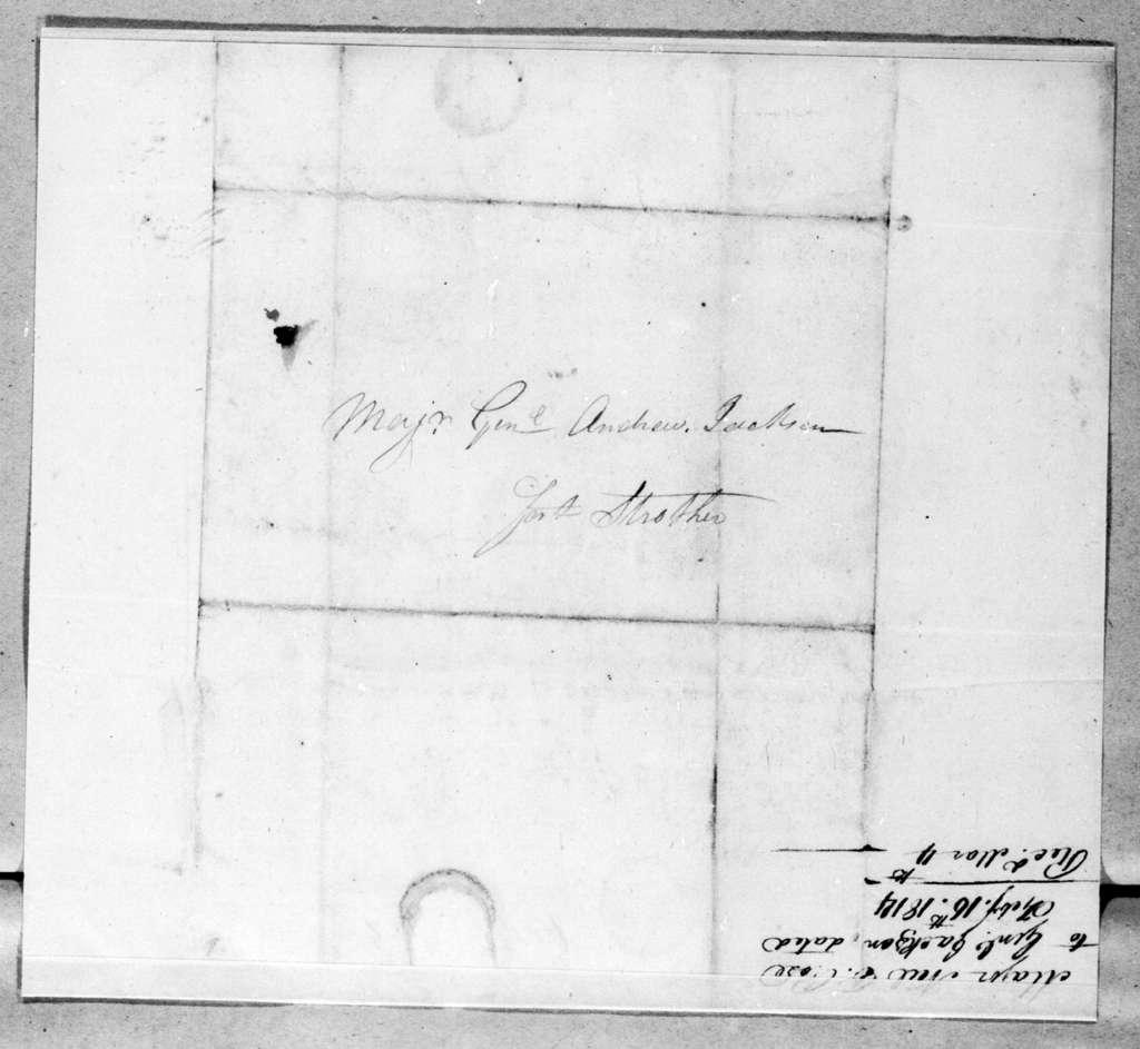 Neil B. Rose to Andrew Jackson, February 16, 1814