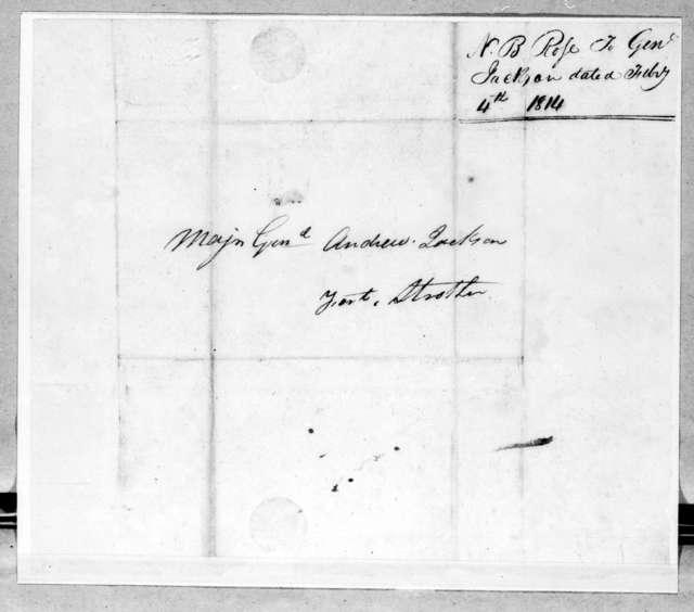 Neil B. Rose to Andrew Jackson, February 4, 1814