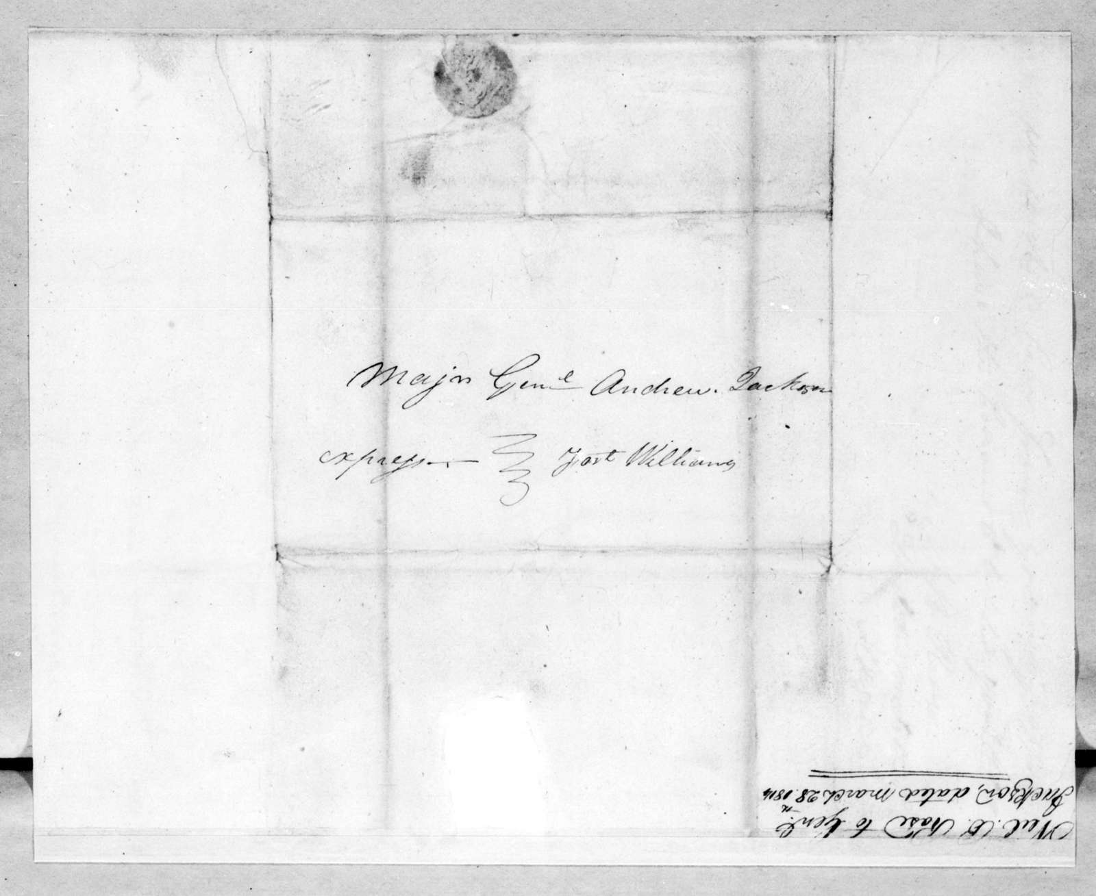 Neil B. Rose to Andrew Jackson, March 28, 1814