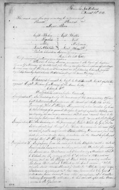New Orleans Army Barracks, December 15, 1814