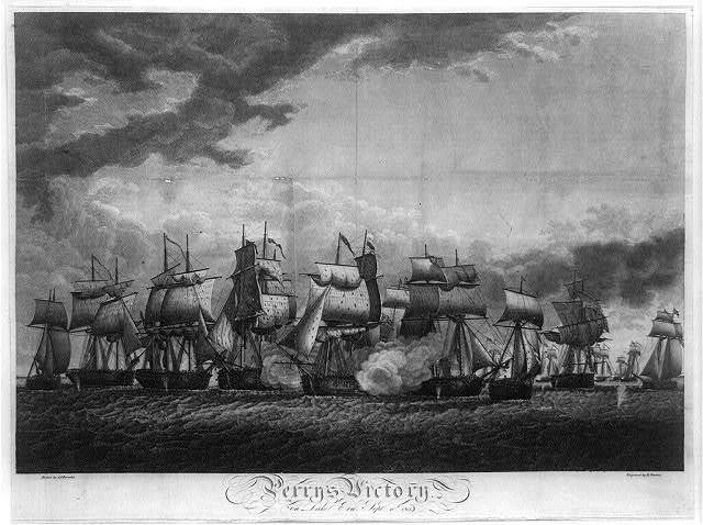 Perry's victory on Lake Erie, Sept. 10th 1813 / drawn by J.J. Barralet ; engraved by B. Tanner.
