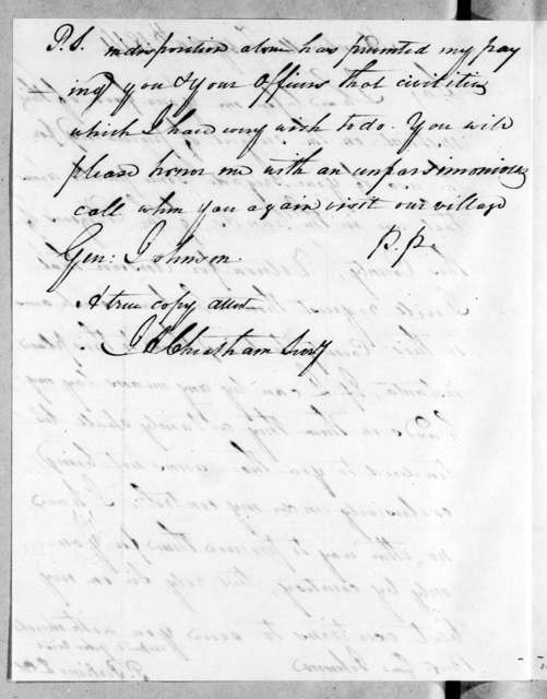 Peter Perkins to Thomas Johnson, February 20, 1814