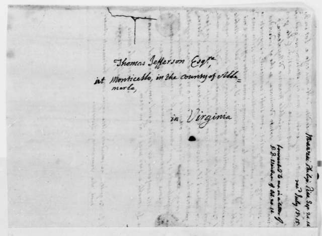 Philip Mazzei to Thomas Jefferson, September 24, 1814, in Italian