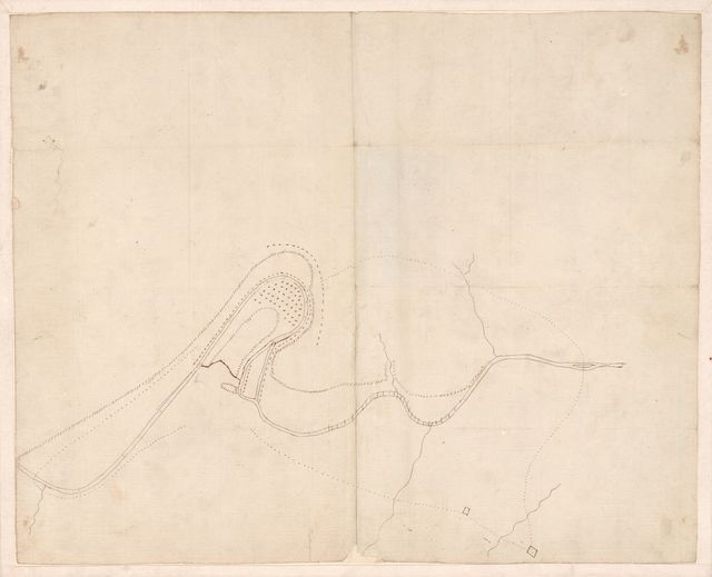 Plan of Bend and breast works of Tohopeka, the battle of the 27th March 1814.