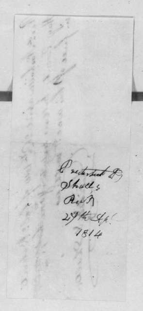 Pritchett & Shall to Robert Hays, April 26, 1814