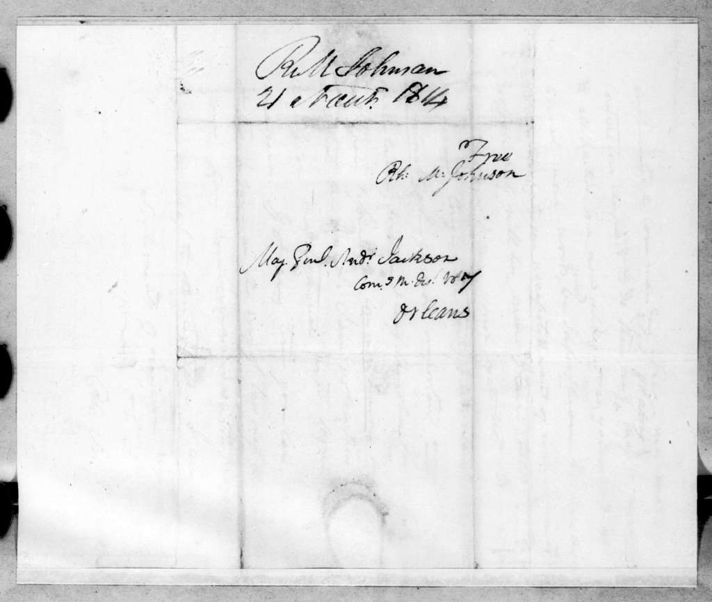 Richard Mentor Johnson to Andrew Jackson, November 21, 1814