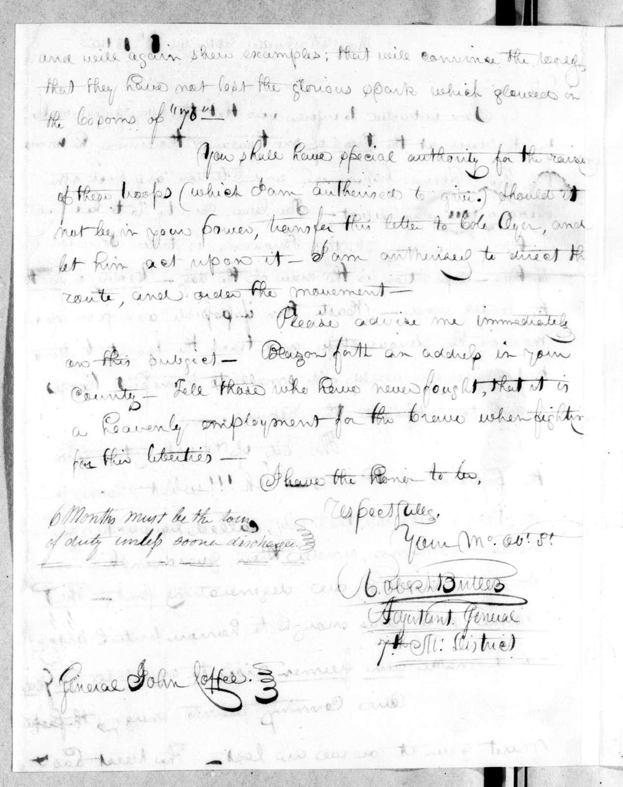 Robert Butler to John Coffee, September 10, 1814