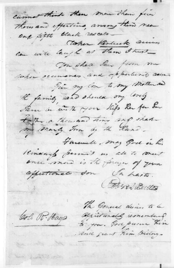 Robert Butler to Robert Hays, December 30, 1814