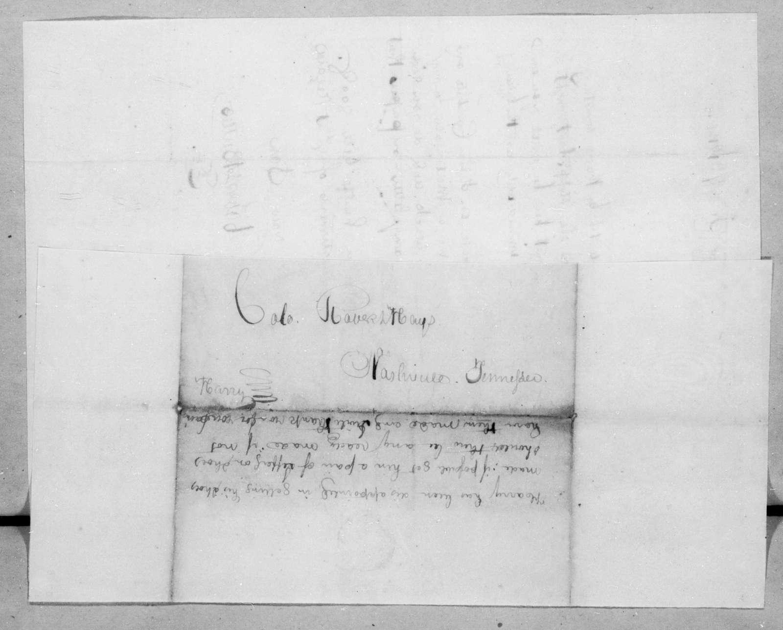 Robert Butler to Robert Hays, June 7, 1814