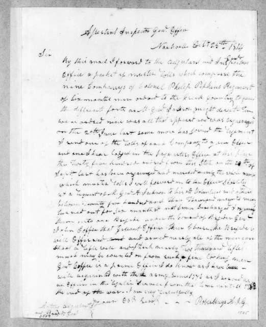 Robert Hays to Unknown, October 25, 1814