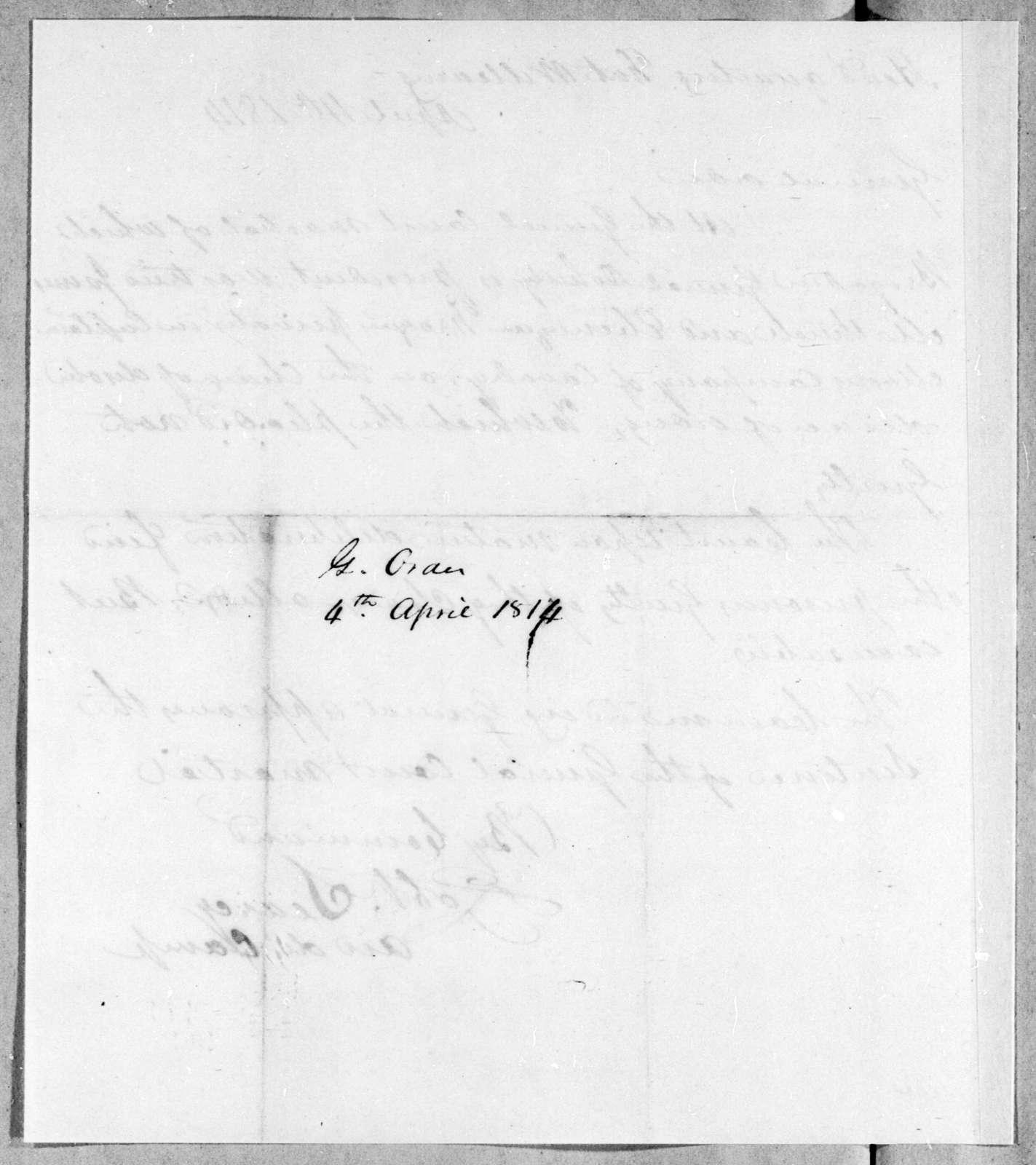 Robert Searcy, April 4, 1814