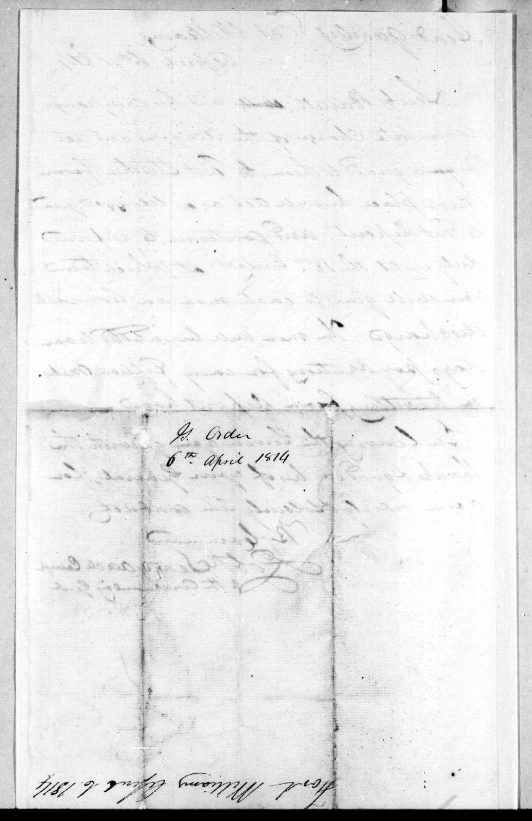 Robert Searcy, April 6, 1814