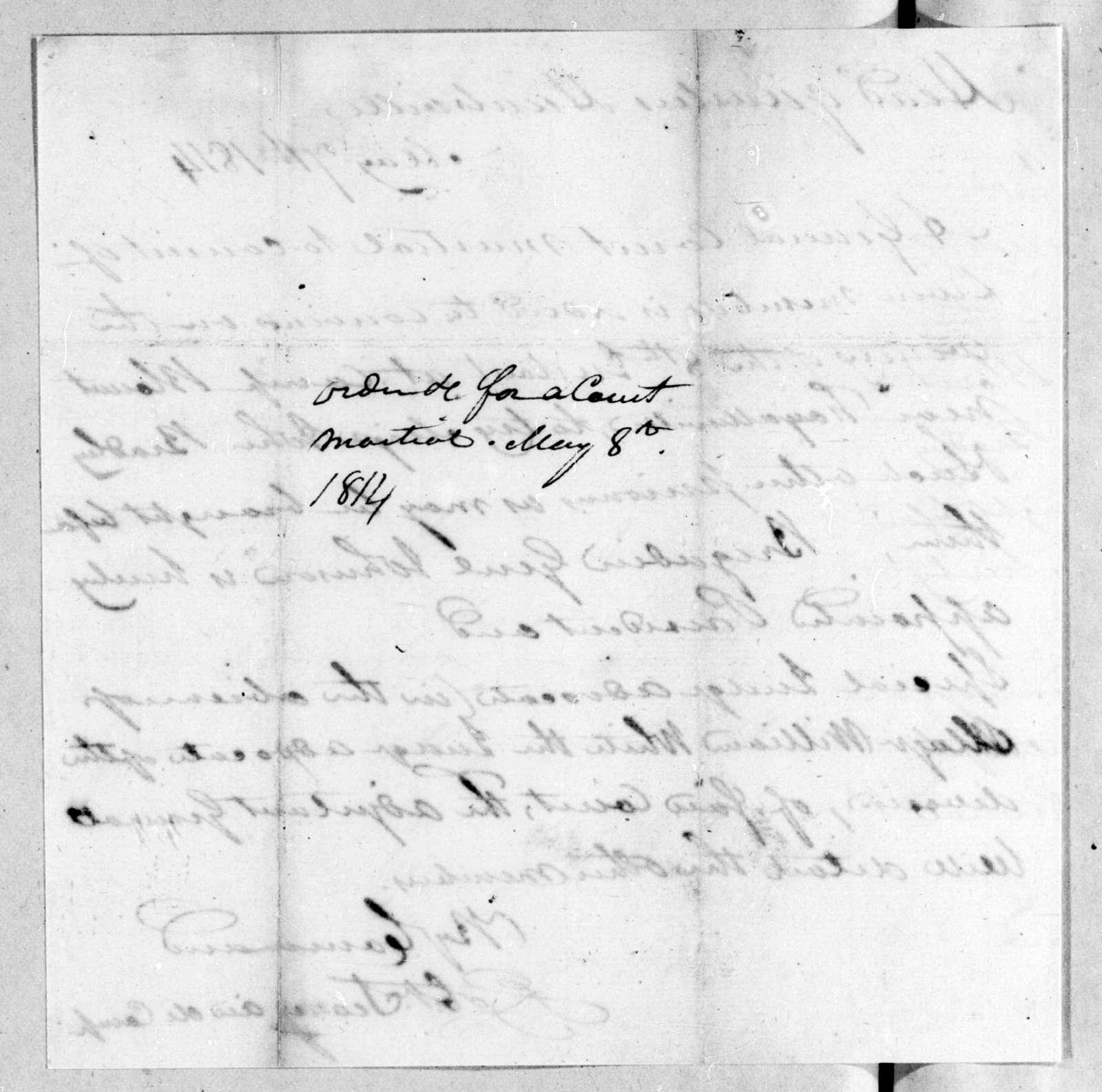 Robert Searcy, May 7, 1814