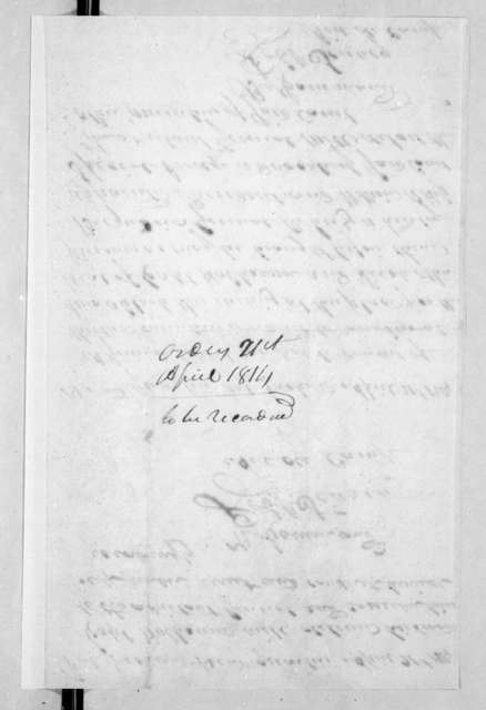 Robert Searcy to J. Graham, April 21, 1814