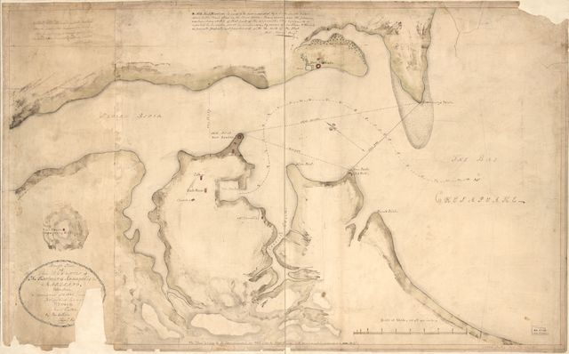 Rough plan of the defences of the harbour of Annapolis in Maryland /