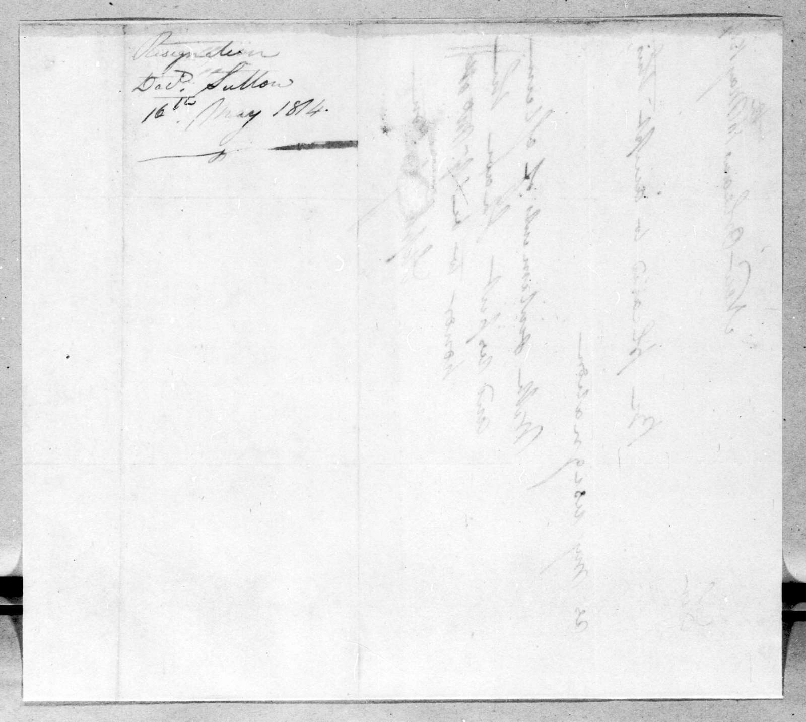 S. Sutton to Andrew Jackson, May 16, 1814