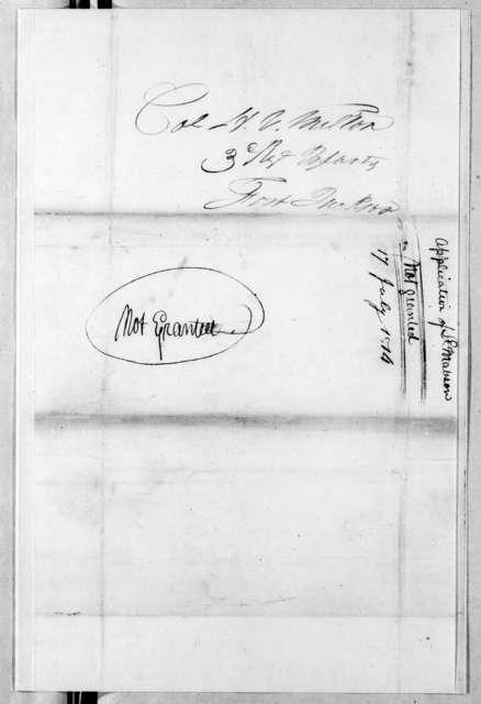 Samuel C. Mabson to Homer Virgil Milton, July 17, 1814