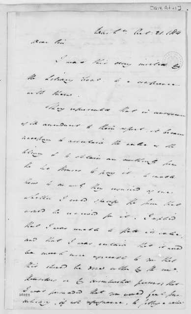 Samuel H. Smith to Thomas Jefferson, October 21, 1814