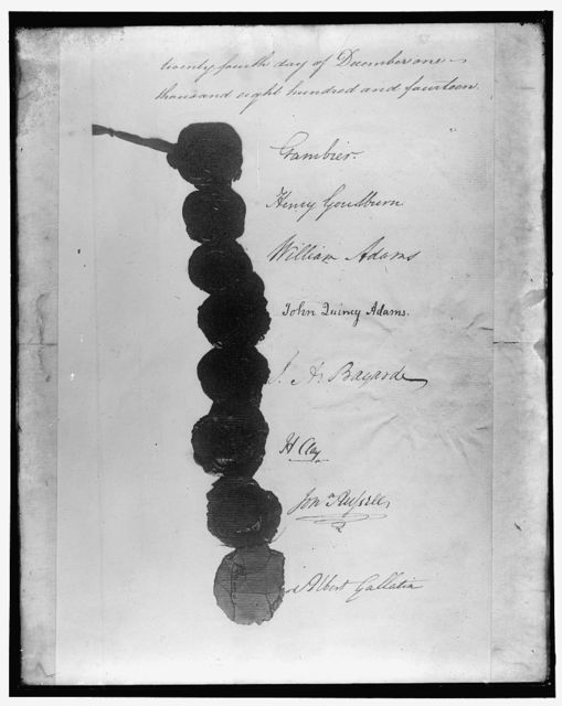 [Signatures, Treaty of Ghent, December 24, 1814]