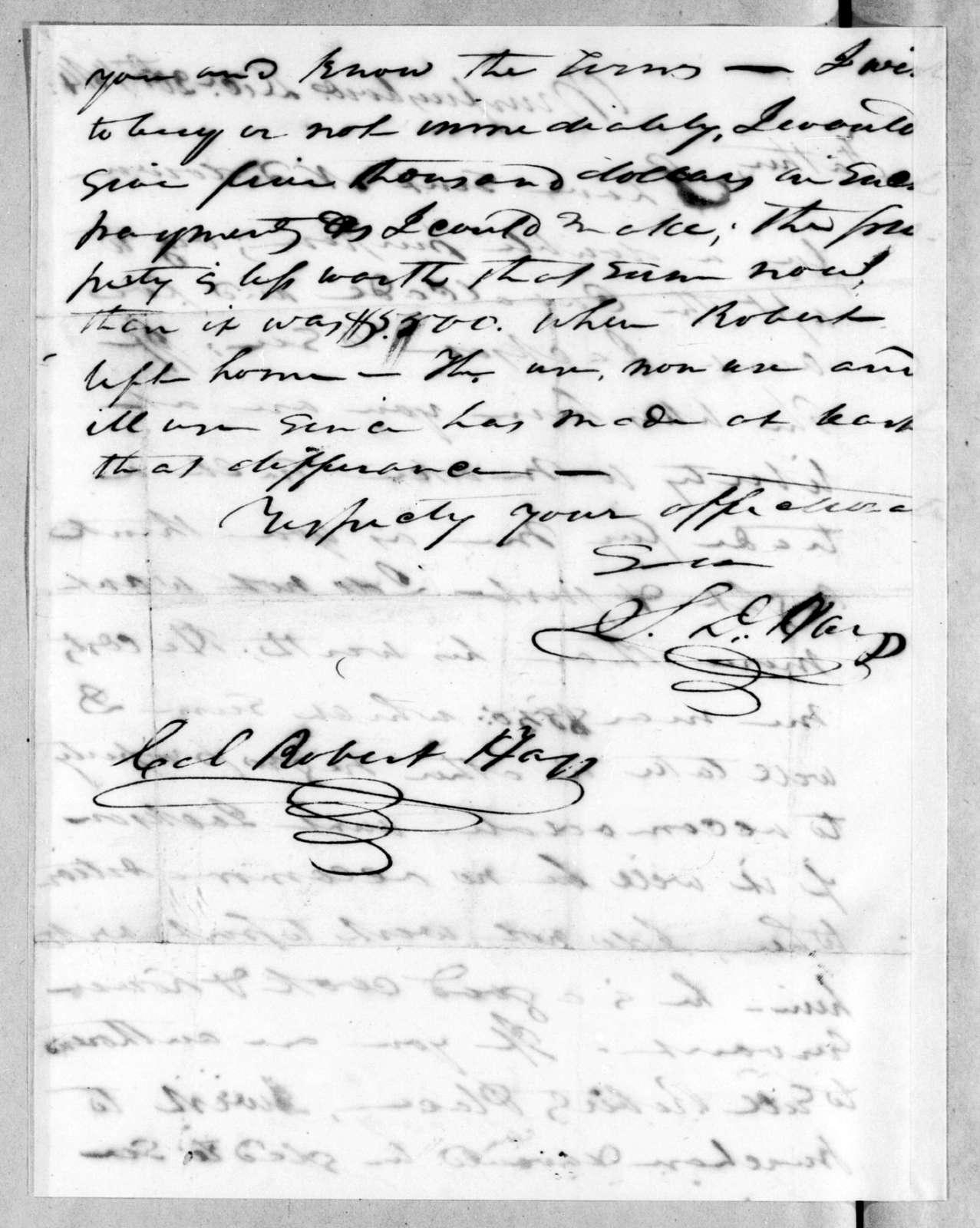 Stockley Donelson Hays to Robert Hays, December 20, 1814