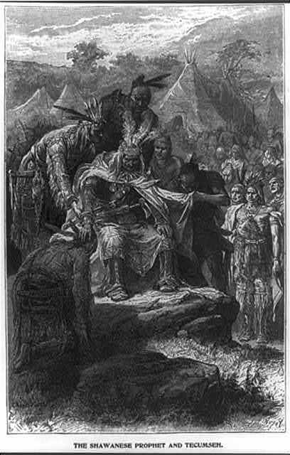 The Shawanese prophet and Tecumseh / Huyot.