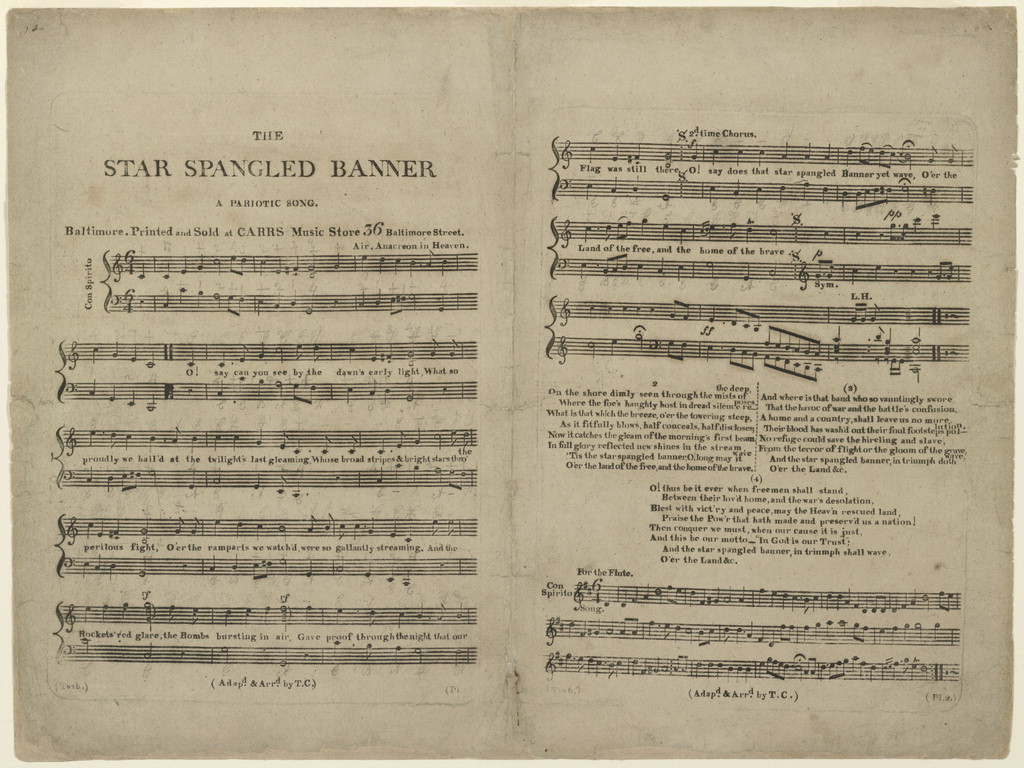 The  Star spangled banner a pariotic song