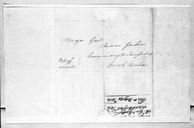 Thomas C. Clark to Andrew Jackson, February 22, 1814
