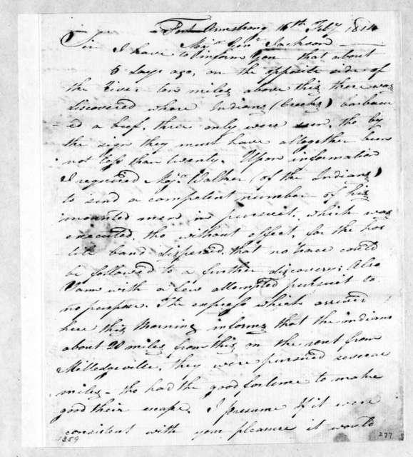 Thomas C. Clarke to Andrew Jackson, February 16, 1814