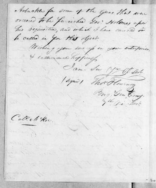Thomas Flournoy to John McKee, March 14, 1814